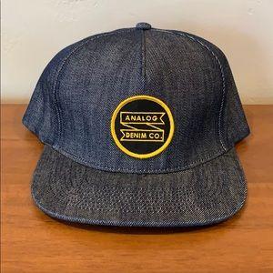 Analog snapback hat